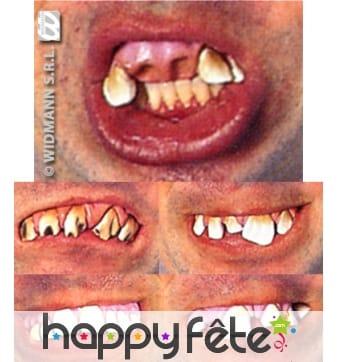 Dentier de dents horribles