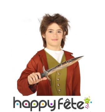 Dague d'elfe magique pour enfant, 39 cm