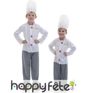 Déguisement d'enfant cuisinier