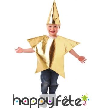 Déguisement d'étoile dorée pour enfant