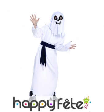Déguisement de fantôme blanc pour enfant