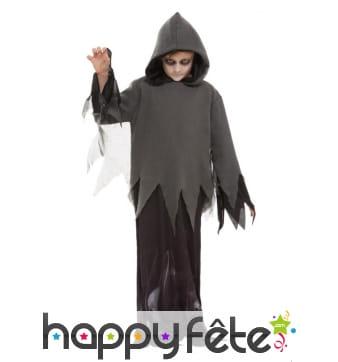 Déguisement de fantôme sinistre pour enfant