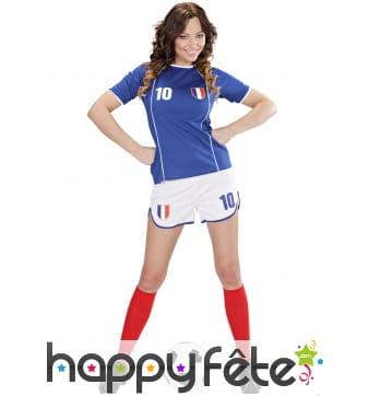 Déguisement de footballeuse équipe de France