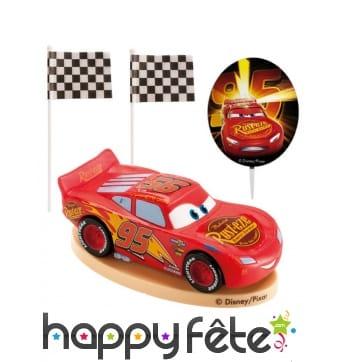 Déco de gâteau Cars avec figurine de 8,5 cm