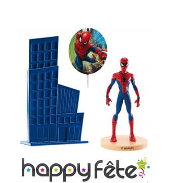 Déco de gâteau Spiderman avec figurine de 8,5 cm