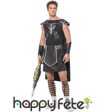 Déguisement de gladiateur noir