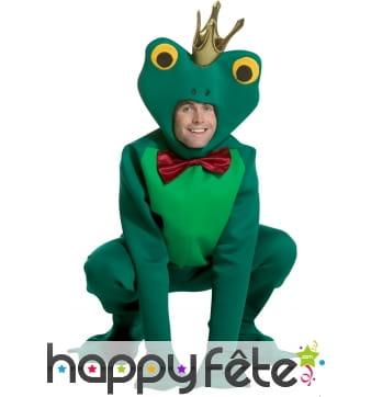 Déguisement de grenouille prince charmant adulte