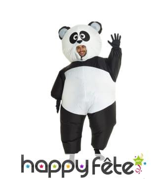 Déguisement de gros panda gonflable
