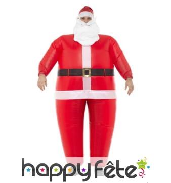 Déguisement de gros père Noël gonflable
