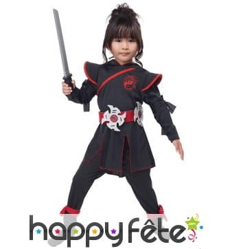 Déguisement de guerrière ninja pour fille