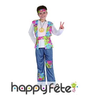 Déguisement de hippie flashy pour garçon