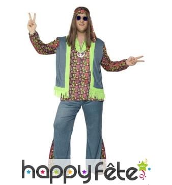 Déguisement de hippie grande taille pour homme