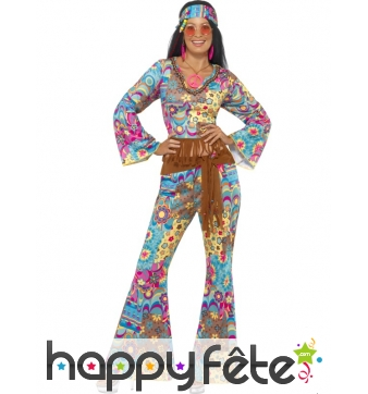 Déguisement de Hippy fleuri pour femme