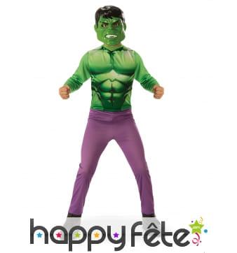 Déguisement de Hulk pour enfant, version classique