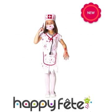 Déguisement d'infirmière ensanglantée pour fille