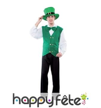 Déguisement d'irlandais vert