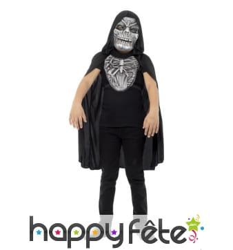 Déguisement de la faucheuse squelette pour enfant