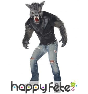 Déguisement de loup garou avec masque intégral
