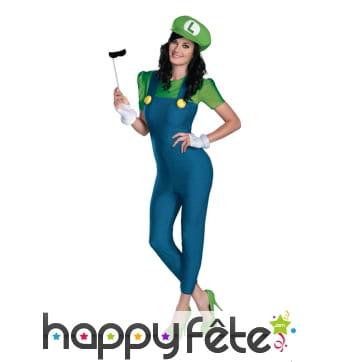 Déguisement de Luigi pour femme, Deluxe