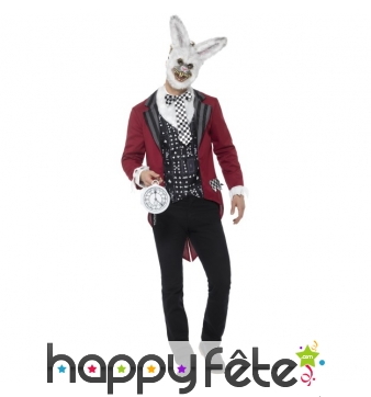 Déguisement du lapin de alice, version monstre