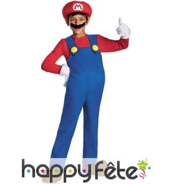 Déguisement de Mario pour garçon, modèle prestige