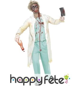 Déguisement de médecin zombie