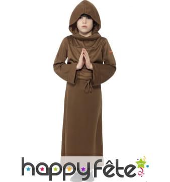 Déguisement de moine historique pour enfant