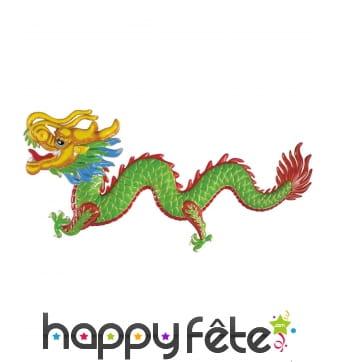 Dragon décoratif mural en plastique de 100cm