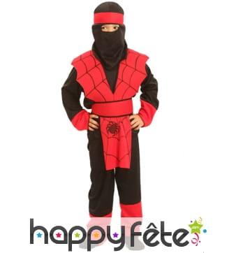 Déguisement de ninja araignée pour enfant