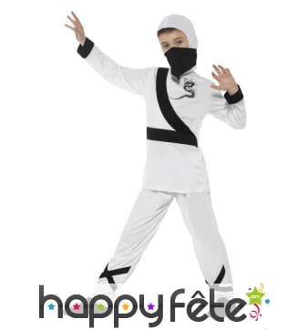 Déguisement de ninja blanc pour enfant