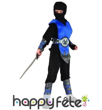 Déguisement de ninja bleu pour enfant