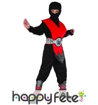 Déguisement de ninja rouge pour enfant