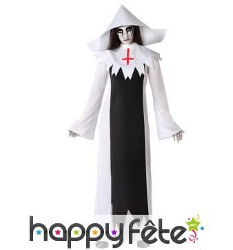 Déguisement de nonne fantôme pour adulte