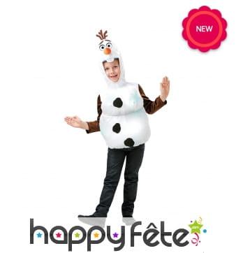 Déguisement de Olaf pour enfant, modèle luxe