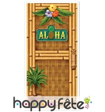 Déco de porte Hawaï Aloha