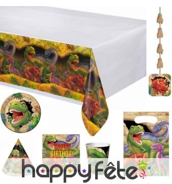 Décorations dinosaure pour table d'anniversaire