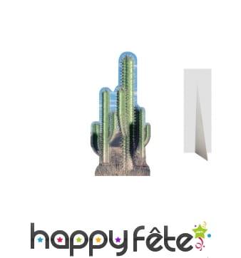 Décors de plusieurs cactus en carton
