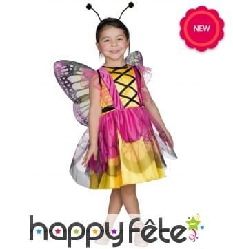 Déguisement de papillon pour fille