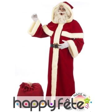 Déguisement de père Noël type manteau