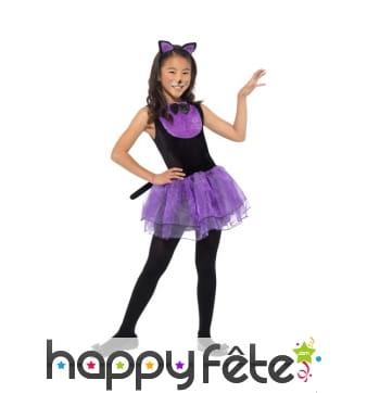 Déguisement de petit chat avec tutu violet