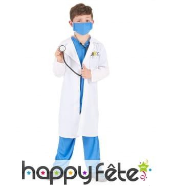 Déguisement de petit médecin en tablier