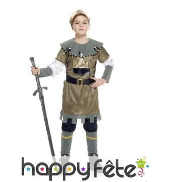 Déguisement de petit prince chevalier médiéval