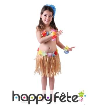 Déguisement de petite danseuse Hawaïenne