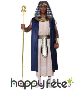 Déguisement de pharaon bleu blanc pour homme