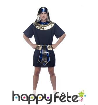 Déguisement de pharaon noir et doré pour homme