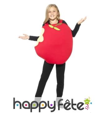 Déguisement de pomme rouge pour enfant