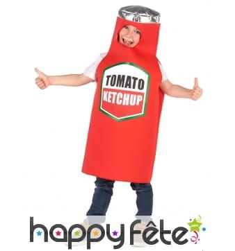 Déguisement de pot de ketchup pour enfant