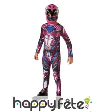 Déguisement de Power Ranger rose pour enfant