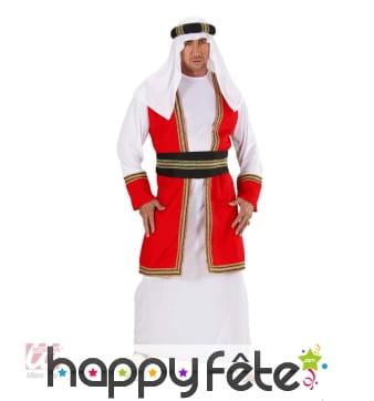 Déguisement de prince arabe rouge