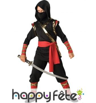 Déguisement de prince ninja pour enfant, luxe